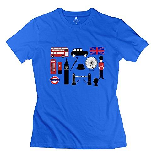 onlyprint-donna-di-protezione-motivo-bus-londinese-e-big-ben-maglietta-misura-42-colore-azzurro-blu-