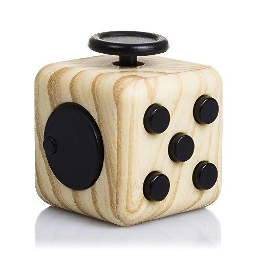 DAM Fidget Cube Anti Stress Holzoptik mit 6Modulen, entspannende Farbe Wood (dmw004wood)