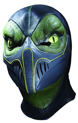Deluxe Scorpion Maske - Mortal Kombat Deluxe Reptile Latex Adult