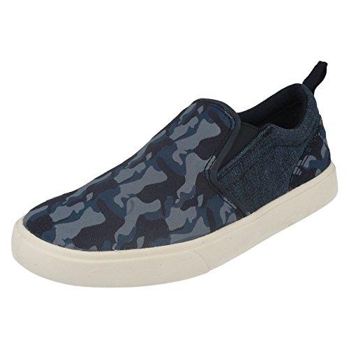 Clarks Club Skate garçons Chaussures junior Toile Bleu
