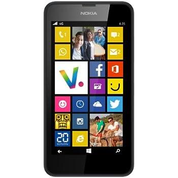 Nokia Lumia 635 Smartphone débloqué 4G (Ecran: 4.5 pouces - 8 Go - Simple Micro SIM - Windows Phone 8.1 - 512 Mo RAM) Noir