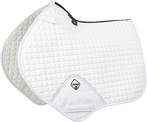 LeMieux Pro Sport Close-Contact-Schabracke, quadratisch gesteppt (D-Ring-Schlaufe) M weiß