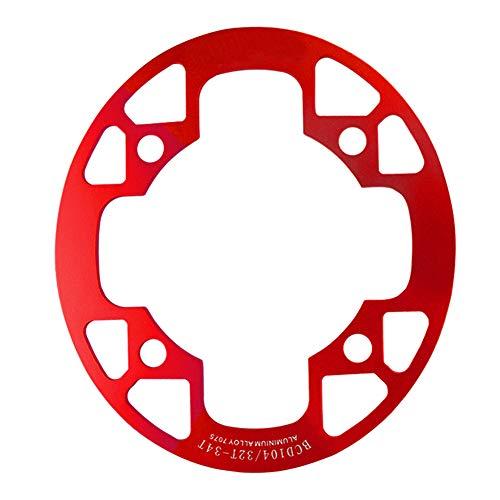 FADDARE Mountainbike Radschutzplatte, Kettenblatt Schutzabdeckung aus Aluminiumlegierung, MTB Rennrad Kettenblätter mit einzelnem Kurbelgarnitur