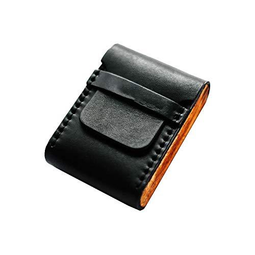 Azsunnyshow Tragbare Zigarettenbox aus massivem Holz, tragbar, Schwarz Gr. Einheitsgröße, Schwarz -