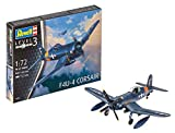 Revell-F4U-4 Corsair Modellino da Costruire, Multicolore, 03955