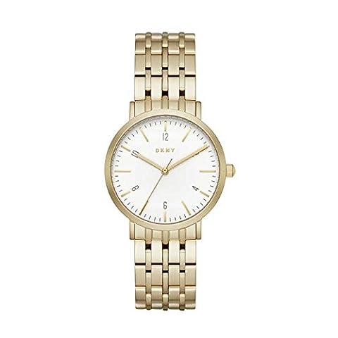 DKNY NY2503 MINETTA Uhr Damenuhr Edelstahl vergoldet 5 bar Analog gold