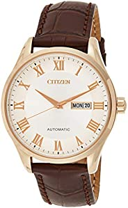 Citizen Men's NH8363-14A Gold Leather Japanese Automatic Dress W