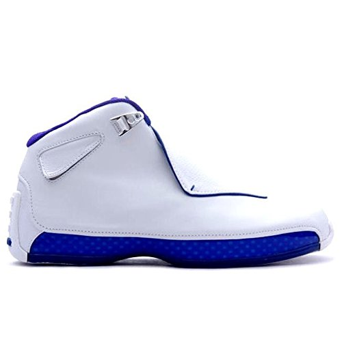 Nike Herren Air Jordan 18 Retro Sneaker Rarität 2018 Weiß/Blau/Silber 45.5