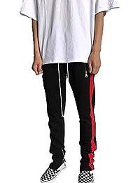 dc11bb4949014 Pantalones Deportivos para Hombre Hip Hop Pantalones Joggers para  Deportivos Correr con Único Cremallera Pantalones Lápiz