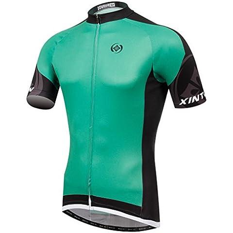 TeyxoCo Nuovo Uomini Manica Corta Cycling Jersey Top L