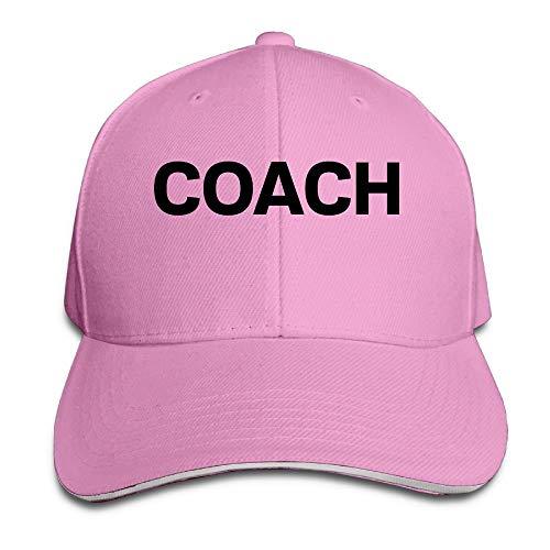Estrange Men's Women's Coach Cotton Adjustable Peaked Baseball Cap Adult Sandwich Hat