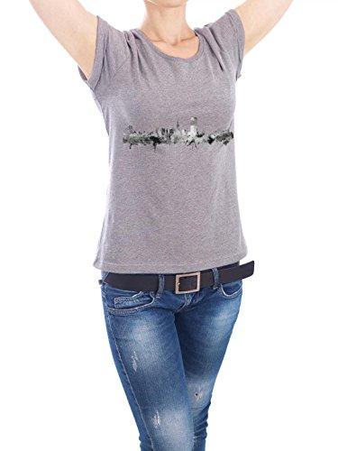 """Design T-Shirt Frauen Earth Positive """"San Francisco City"""" - stylisches Shirt Städte Städte / San Francisco Kartografie Reise Architektur von Michael Tompsett Grau"""
