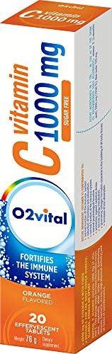 أقراص فوارة برتقالية فيتامين سي 1000 ملغ من أو2 سيلك