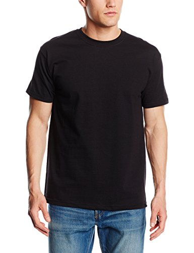 Fruit of the Loom T-shirt à manches courtes pour homme Uni -  Noir - Noir - Large