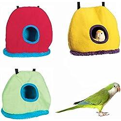 LA VIE Nido de Invierno para Pájaros Ratones Cueva Hamaca Cálido para Loro Hámster Tienda de Campaña Casa Cama de Peluche para Animales Pequeños Bird Parrot House Accesorios de Jaula para Pájaros Ratones S Color Aleatorio