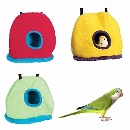 LA VIE Nido de Invierno para Pájaros Ratones Cueva Hamaca Cálido para Loro Hámster Tienda de Campaña Casa de Peluche para Animales Pequeños Bird Parrot House Accesorios de Jaula M Color Aleatorio