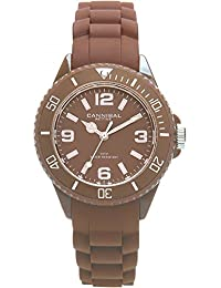 Cannibal Kid's Quartz Watch with Brown Dial Analogue Display and Brown Silicone Strap CK215-29