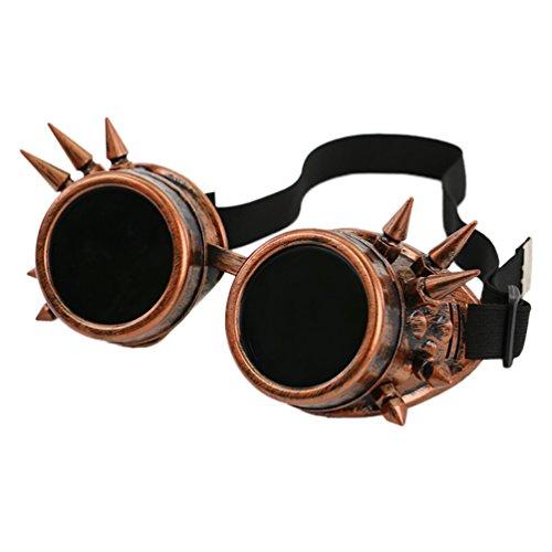 Byqny Nieten Wind Und Staub Schutz Radfahren Runde Steampunk Sonnenbrille Jahrgang Rave Schweißen Schutzbrille Rustikale Cyber Brille
