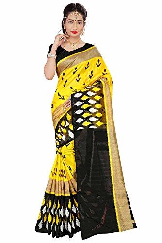 Miraan Women's Bhagalpuri Silk Saree With Blouse Piece (Kp7209_Yellow)