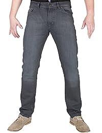 mode jeans pour hommes de haute qualite de denim gris dechire