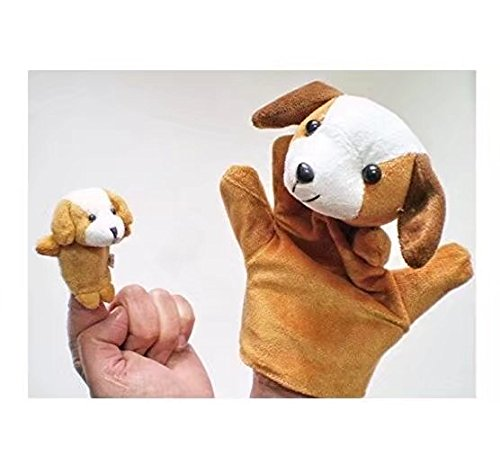 RICISUNG Fingerpuppe Set Plüschtiere Kinder Lernen, Spielen Geschichte, Hund