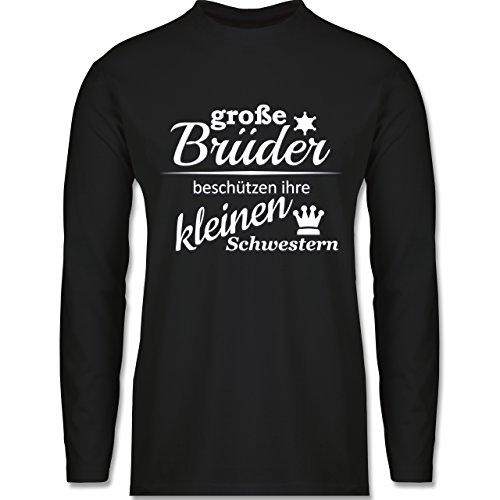 Shirtracer Sprüche - Große Brüder - Herren Langarmshirt Schwarz