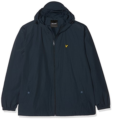 Lyle & Scott Plus Size Herren Plus Size Zip Through Hooded Jacket Jacke, Blau (Navy), XX-Large Herren Zip-hooded Jacket