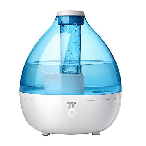 TaoTronics Humidificador Bebés Vapor Frío, Control Táctil, 2 niveles de niebla, Modo de Sueño, Boquilla giratoria de 360°, Libre de BPA, 100ml a 200 ml cadad hora, 2,3L