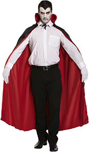 Costume Mantello Fancy Dress Reversibile (Rosso/Nero)