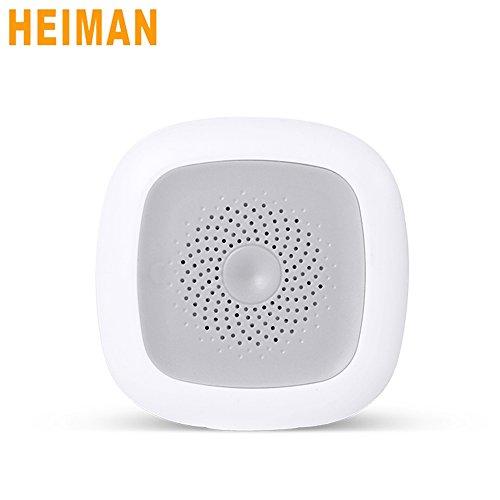 Heiman Smart Home Monitoring Innentemperatur und Luftfeuchtigkeit Sensor Weiß hs1ht