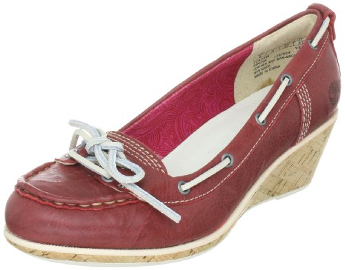 Timberland WHITTIER BOAT WEDGE 42633, Damen Ballerinas, Rot (Red 0), EU 39.5 (US 8.5)