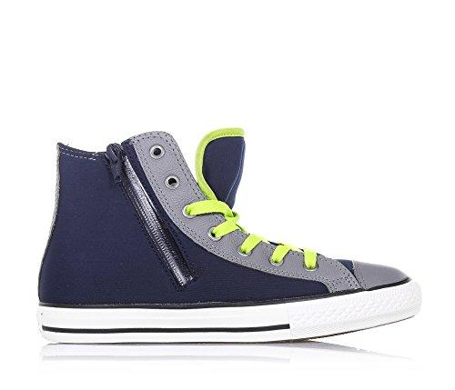 huge selection of c5912 4b820 ... new zealand glidelås blå og lær converse grått synlige gutt logo  lateral stoff gummi gutter blå