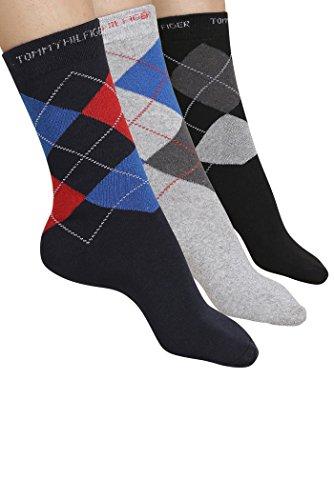Tommy Hilfiger Men's Knee-High Sock (Tommy Hilfiger_Multi-Coloured_Free Size)