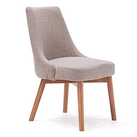ERRU-Chaises Chaises de salle à manger en bois massif nordiques Salon Bureau Canapé de café Chaises de dossier de loisirs(46.5 * 49 * 83cm, couleur en option) ( Couleur : Red oak color , taille : 4 Pieces )