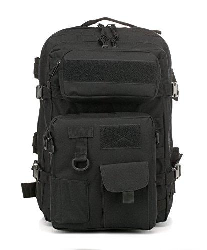 Outdoor Taktisch Rucksack Wasserdicht Kombination Von Militär Tarnung Tasche Black