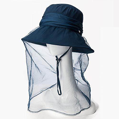 SCJS Hut Frau Visier Faltbarer Viskose Faser Netz Garn Atmungsaktiv Sonnenschutz Outdoor 5