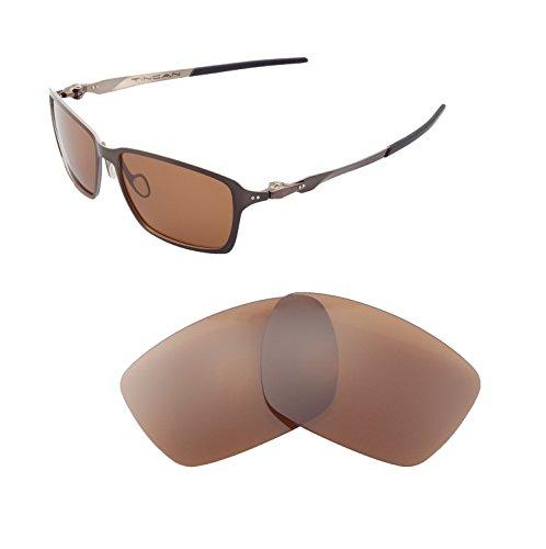 Walleva Ersatzgläser für Oakley Tincan Sonnenbrille - Mehrere Optionen verfügbar (Braun - polarisiert)