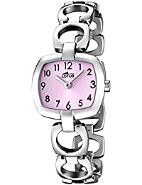 Lotus UL15953/2 - Reloj para niños, correa de acero inoxidable color plateado