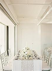 Idea Regalo - Trlyc, tovaglia decorativa da tavolo, di forma rettangolare, con paillettes, decorazione scintillante per matrimoni e feste, 33x 213,4cm, disponibile in vari colori, Altro, Silver, Qty: 1