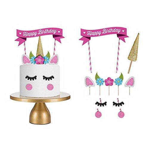 topper einhorn deko party deko geburtstag deko mädchen unicorn cake pop ständer geburtstags deko für torten kindergeburtstag deko mädchen kuchen topper einhorn ()