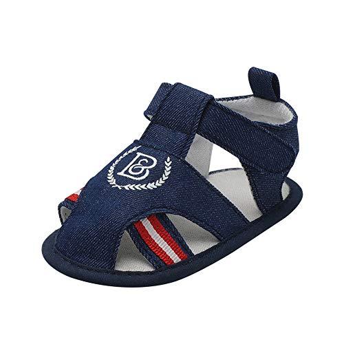 feiXIANG Unisex-Kinder Sandalen Klassisch Baby Jungen Mädchen Krippe Schuhe Infant Anti-Rutsch Wanderschuhe 0-18 Monate(Dunkelblau,12-18 Monat=13) - Mädchen High-tops Schuhe Baby 3 Größe