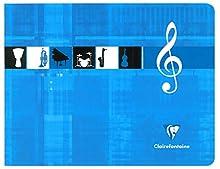 Clairefontaine Metric 3754 Cahier de musique reliure piqûre 22 x 17 cm à l'italienne 48 pages Lot de 20