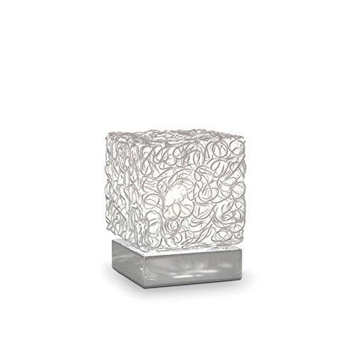 L'Aquila Design Arredamenti Ideal Lux Quadro lámpara de Mesa con Estructura  de Metal Estar TL1