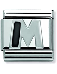 Nomination Mujer de Charm Composable Alfabeto Letra (M) 925plata acero inoxidable–330201/13