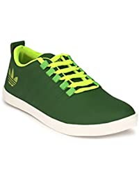 TURISMO Green Artificial Leather Lace Up Sneeker/Casual Shoes For Mens