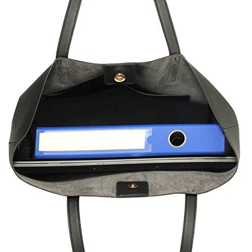 LeahWard® Groß Damen Tragetaschen nett Groß Marke Handtaschen Handgepäck Kabine Gym Reise Arbeit Tasche Zum Damen61 Schwarz Shopper Tasche