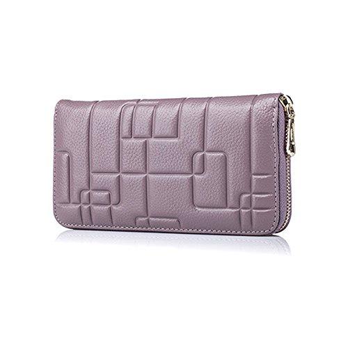 Back to School Essentials 2017-valentoria ® da donna, Lady portafoglio borsa porta carte di credito contanti Titolare frizione lungo borse regali di Natale idee Red Purple