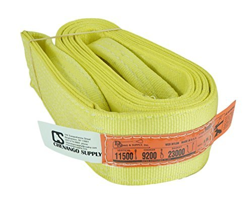 DD Sling, 2-lagig, Nylon Lifting Web Sling, Eye & Eye, Heavy Duty (900Gurtband), LBS Vertikale, Choker, Korb Tragkraft (hergestellt in den USA), mehrere Größen in Eintrag.