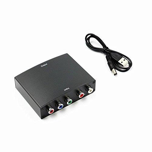 Professionelle YPbPr zu HDMI Konverter einfach zu verwenden AV Video Audio HDCP YPbPr/RGB + R/L Audio zu HDMI Konverter Adapter