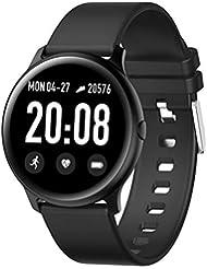 Montre Intelligente pour Homme KW19 Moniteur de fréquence Cardiaque avec Moniteur de Pression artérielle IP67 étanche Sport Smartwatch, pour l'enfant d'un Amoureux